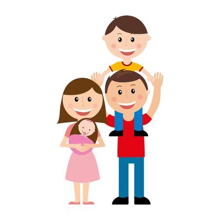 family illustration: family design over  white background vector illustration