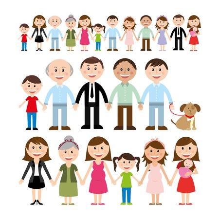 Conception de famille sur fond blanc illustration vectorielle Banque d'images - 23234650