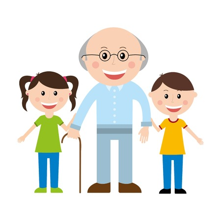 boys cartoon: family design over white background vector illustration