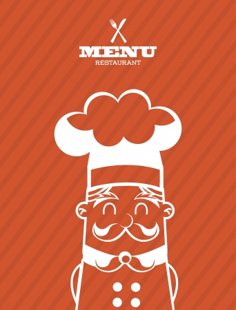 chef icon over orange background  vector illustration Stock Vector - 23234828