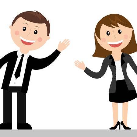 elegant couple: couple design over white background vector illustration Illustration
