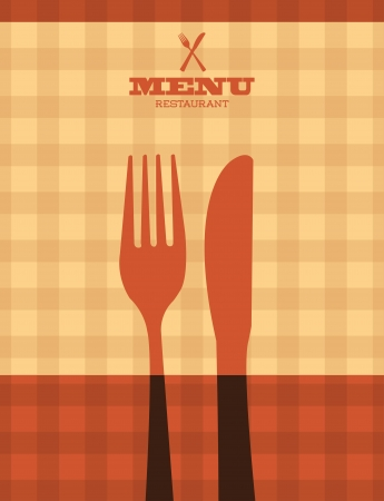 menu design over pattern background vector illustration  Vector