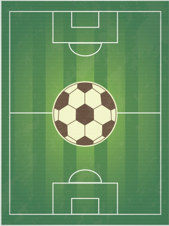 soccer design over field background  vector illustration Vector