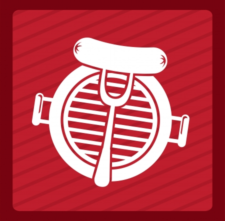 grill menu over red background vector illustration Vector