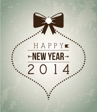 happy new year 2014 over gray background  vector illustration Stock Vector - 23427590