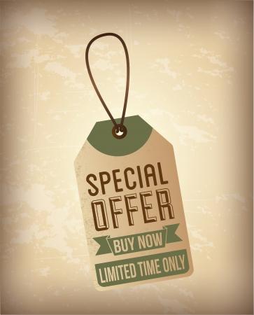 better price: special offer design over vintage  background vector illustration
