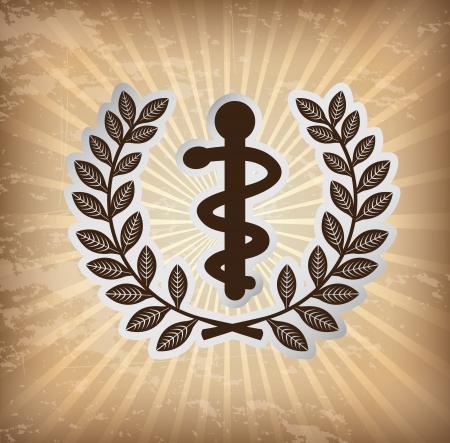 intensive care: medical icon over grunge background vector illustration Illustration