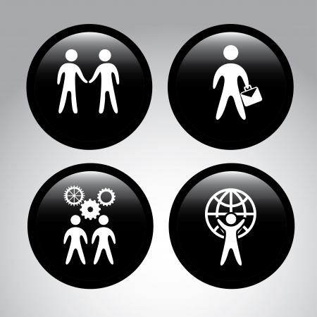 Business Planner auf grauem Hintergrund Vektor-Illustration