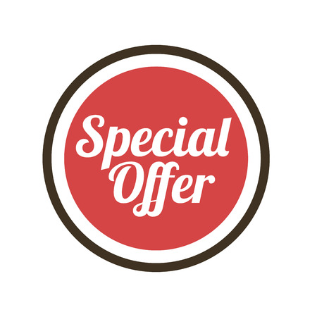special offer design over white  background vector illustration  Vector