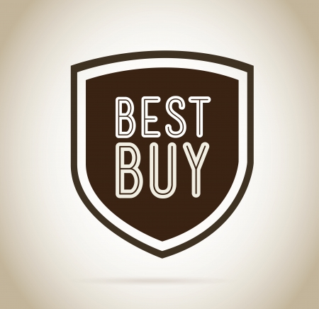 best buy design over beige background vector illustration  Vector