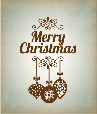merry christmas  over pattern background  vector illustration  Vector
