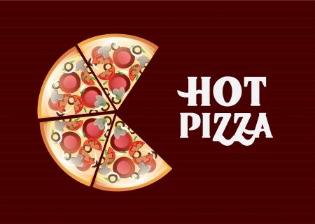 Diseño de la pizza sobre fondo lineal ilustración vectorial Foto de archivo - 23427785