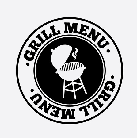 grill menu over white background vector illustration Vector