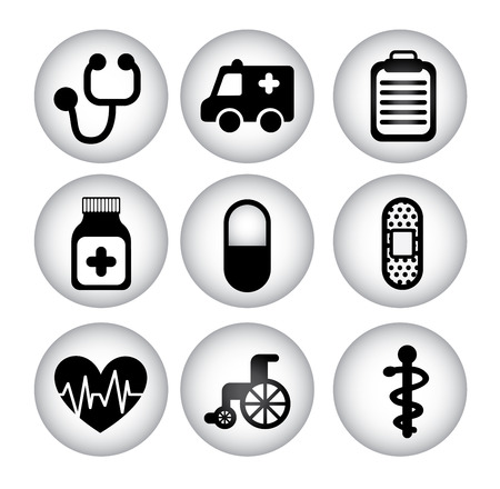 healthy icons over white background vector illustration Vector