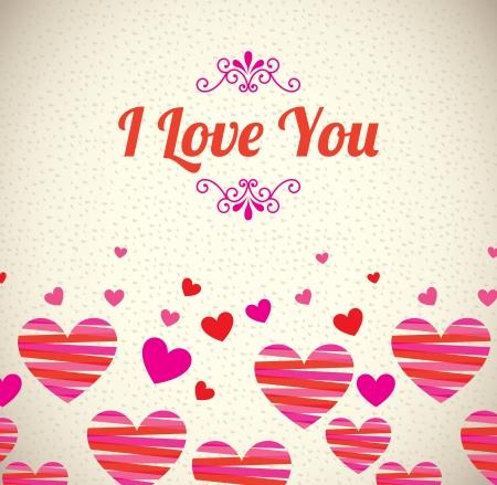 love design over pattern background vector illustration