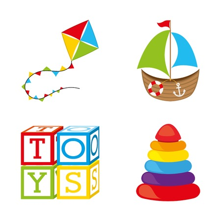 toys icons over white background vector illustration Vector