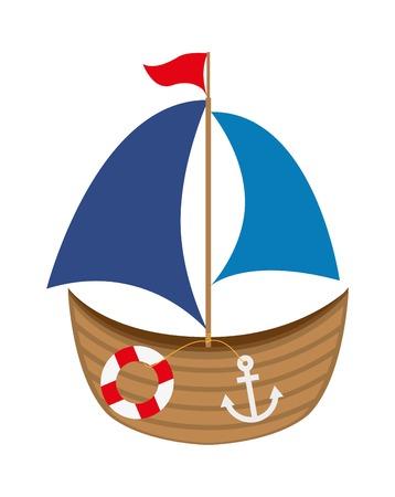 navios: design do beb� do brinquedo sobre o fundo branco ilustra��o vetorial
