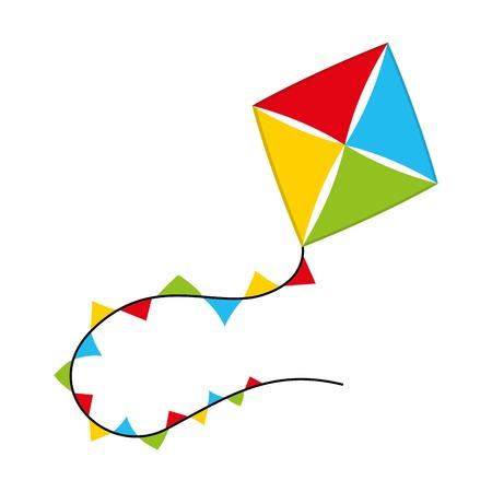 papalote: dise�o del beb� de juguete sobre fondo blanco ilustraci�n vectorial Vectores