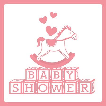 Conception de douche de bébé au cours de l'illustration vectorielle fond blanc Banque d'images - 23428017
