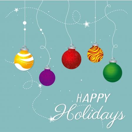 christmas design over blue background vector illustration Stock Vector - 23428087