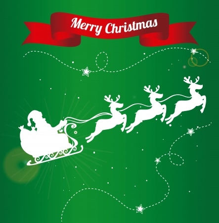 Diseño de la Navidad sobre fondo verde ilustración vectorial Foto de archivo - 23428142