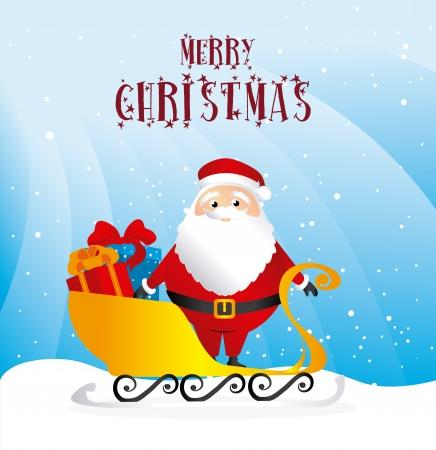snowscape: christmas design over snowscape background vector illustration
