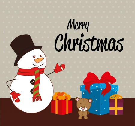 christmas design over dotted background vector illustration Vector