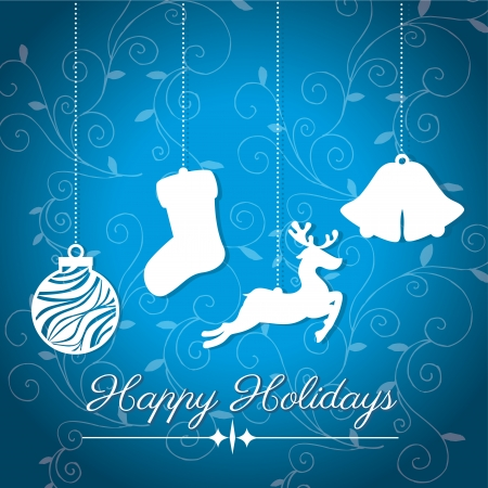 holidays design over blue  background vector illustration Stock Vector - 23428179