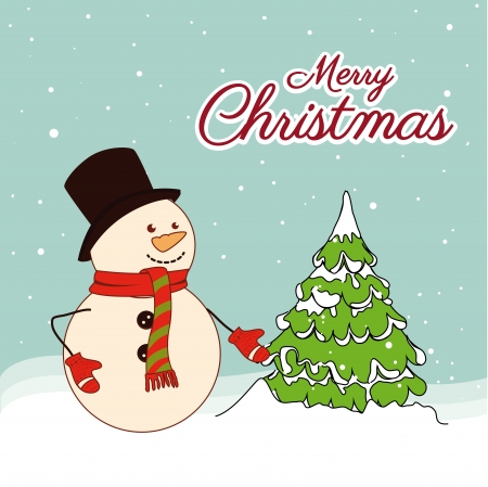 christmas design over snowscape  background vector illustration Vector