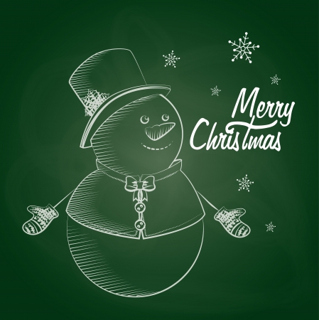 christmas design over chalkboard background vector illustration Vector