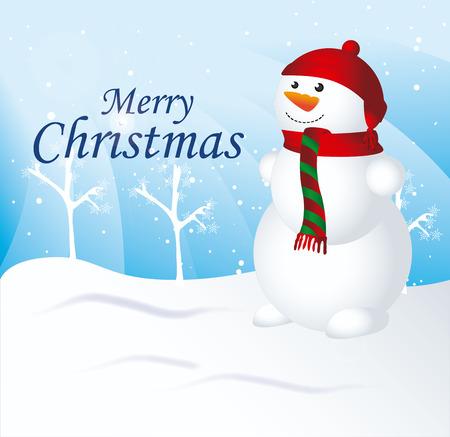 schneelandschaft: Weihnachts-Design �ber Schneelandschaft Hintergrund Vektor-Illustration Illustration