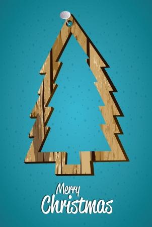 christmas design over blue  background vector illustration Illustration