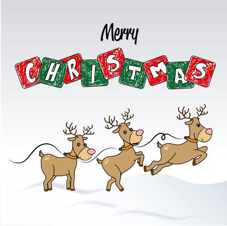 schneelandschaft: Weihnachts-Design auf grauem Hintergrund Vektor-Illustration Illustration