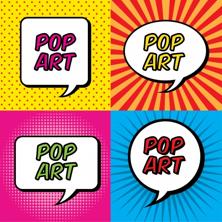 pop art explosion over colorful  background. vector illustration Vector