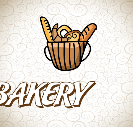 bakery design over pattern background vector illustration   Vector