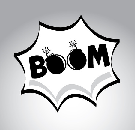 boom pop art explosion over  gray background. vector illustration Stock Vector - 23539525