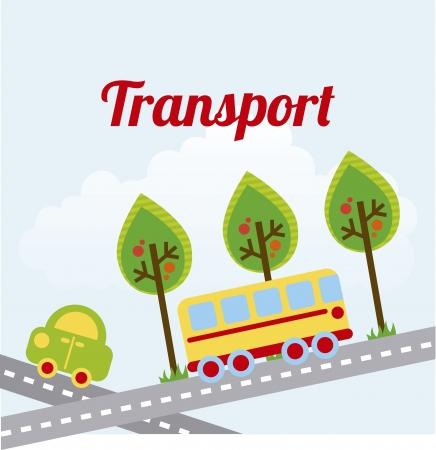 transport design over sky background vector illustration Stock Vector - 23539565