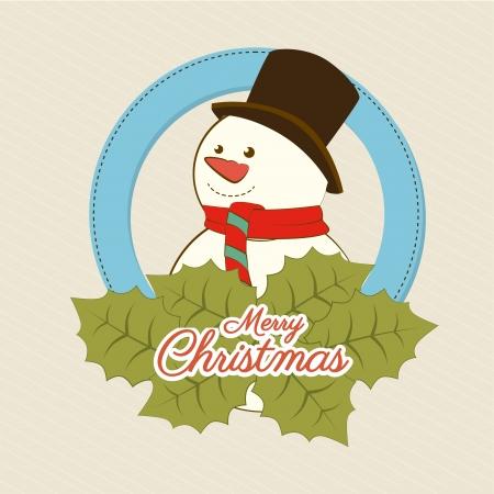 christmas design over beige background vector illustration Vector
