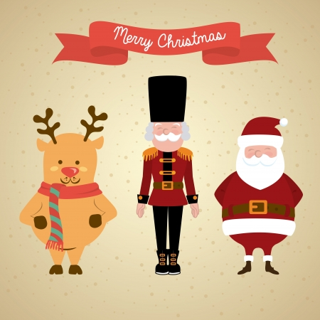 christmas design over beige background vector illustration Vector