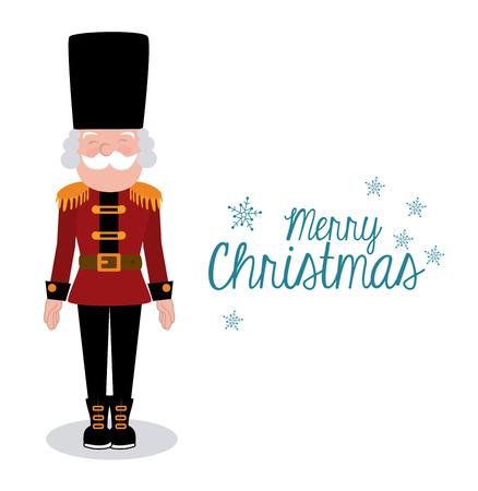 nutcracker: christmas design over white background vector illustration Illustration