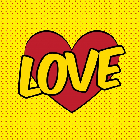 love pop art explosion over dotted   background. vector illustration Stock Vector - 23539629