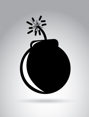 slurry: Bomb design over gray background vector illustration   Illustration