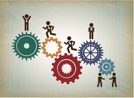 travail d équipe: ressources humaines plus modèle illustration vectorielle de fond