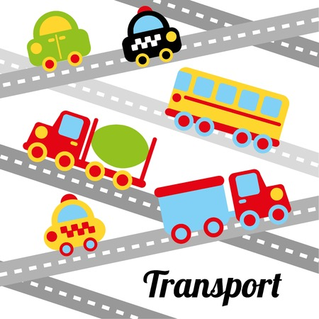 transport design over white background vector illustration Stock Vector - 23539794