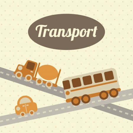 transport design over dotted background vector illustration Stock Vector - 23539799