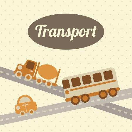 coachwork: transport design over dotted background vector illustration Illustration