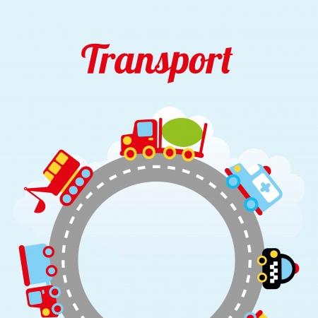 transport design over sky background vector illustration Vector