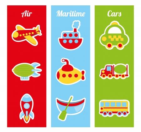 flying boat: transport design over white background vector illustration