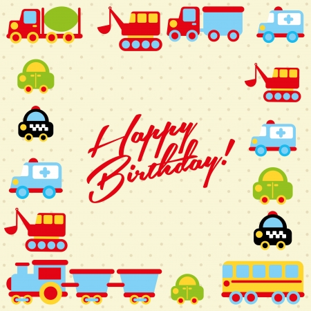 happy birthday design over dotted background vector illustration    Vector