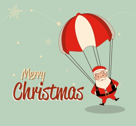 christmas design over blue  background vector illustration Vector